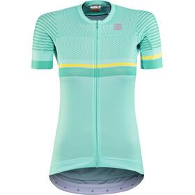 Sportful Diva 2 Koszulka rowerowa z zamkiem błyskawicznym Kobiety, miami green/bora green/tweety